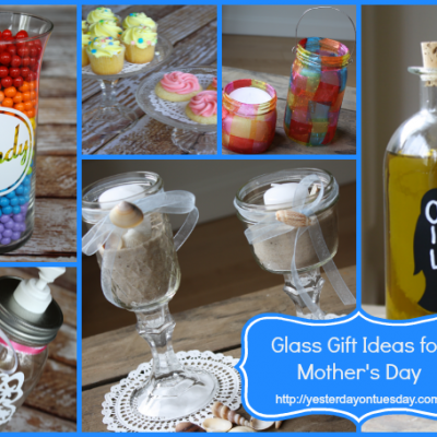 DIY Glass Gift Ideas for Mother's Day