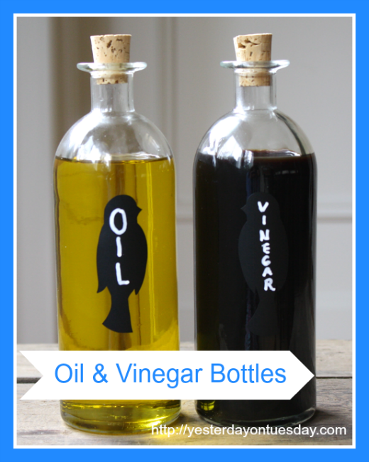 DIY Oil and Vinegar Bottles