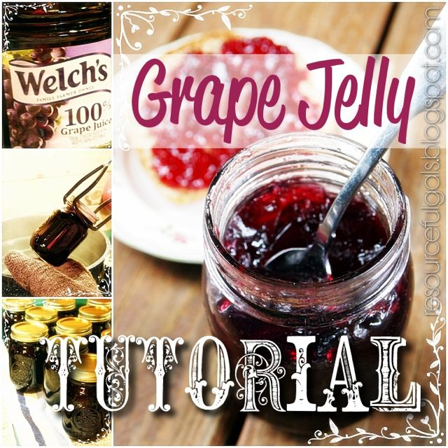 Grape Jelly Tutorial by The Resourceful Gals