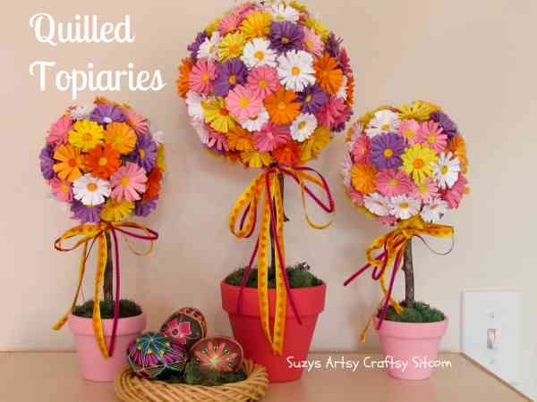 Quilled Topiaries - Suzy's Sitcom