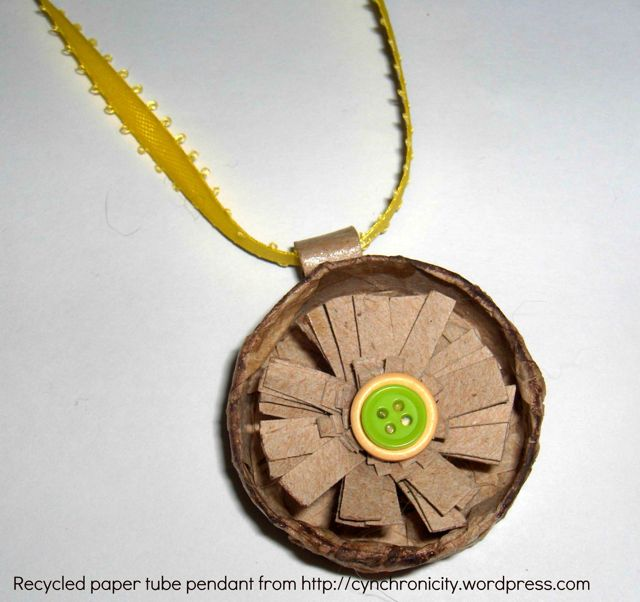 Recycled Floral Pendant - Creative Cynchronicity