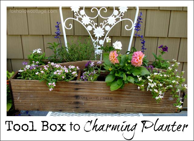 Tool Box to Charming Planter - Fox Hollow Cottage