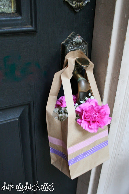 Washi Tape May Day Baskets - Dukes and Duchesses