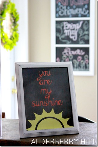 Free Printable You Are My Sunshine Printable