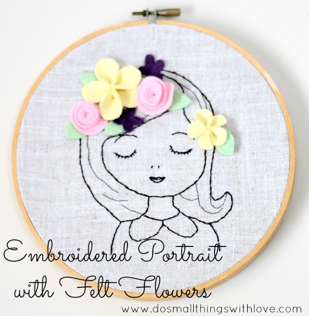 Portrait with Embroidery