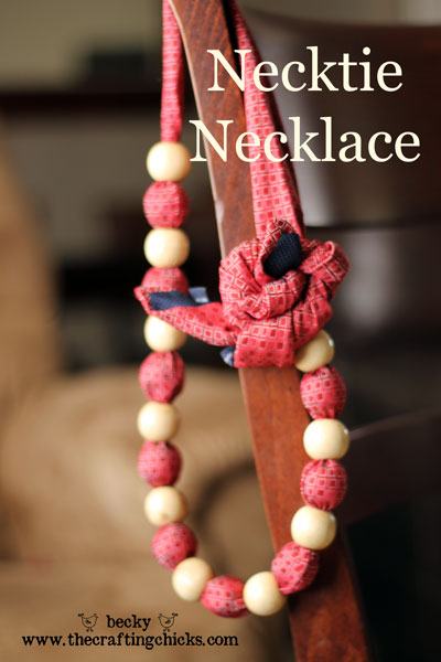 Necktie Necklace - The Crafting Chicks