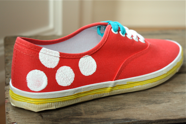 Create custom sneakers with fabric paint