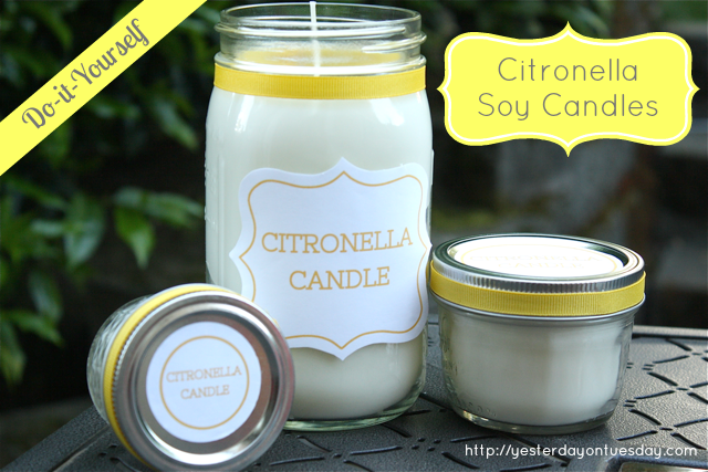 Soy Citronella Candles