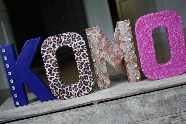 DIY Letter Decor