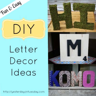 DIY Letter Decor Ideas