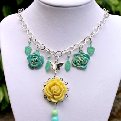 Floral Fantasy Necklace with Martha Stewart Jewelry