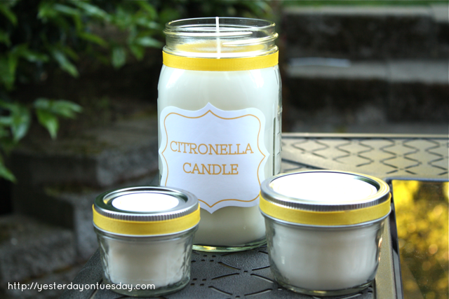 How to make soy citronella candles