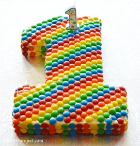 Birthday cake with candies