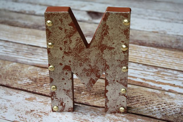 DIY Metallic Letter