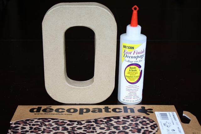 DIY Tissue Paper Letter
