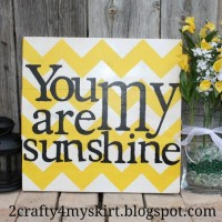 DIY Chevron sign
