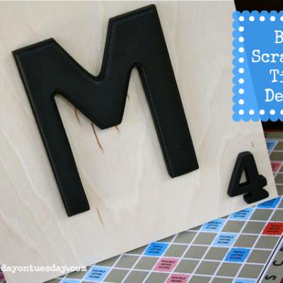 Big Scrabble Tile Decor