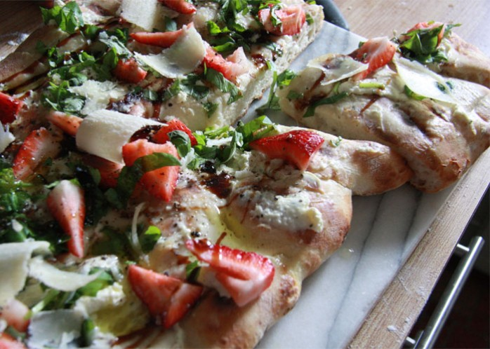 BBQ Strawberry Pizza