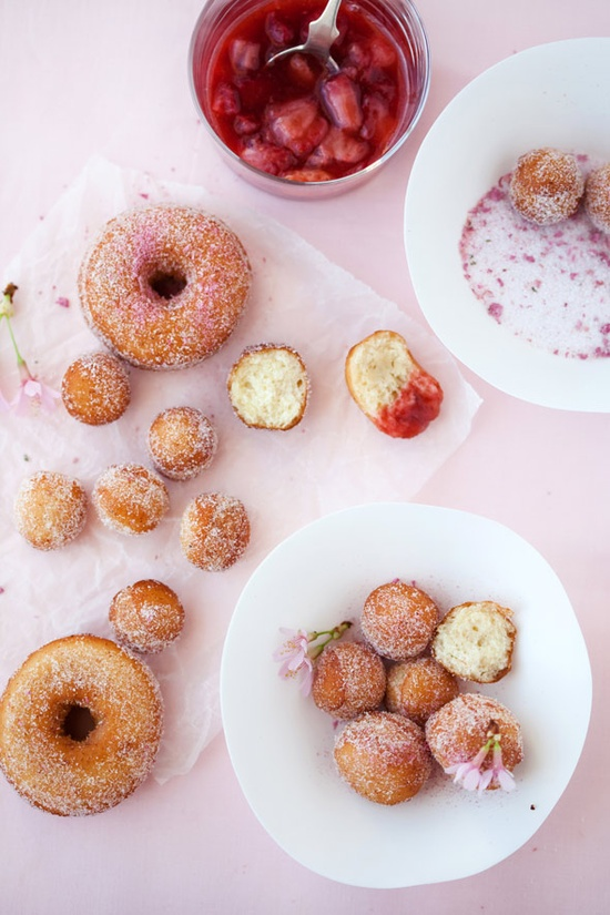 Cherry Blossom Doughnuts
