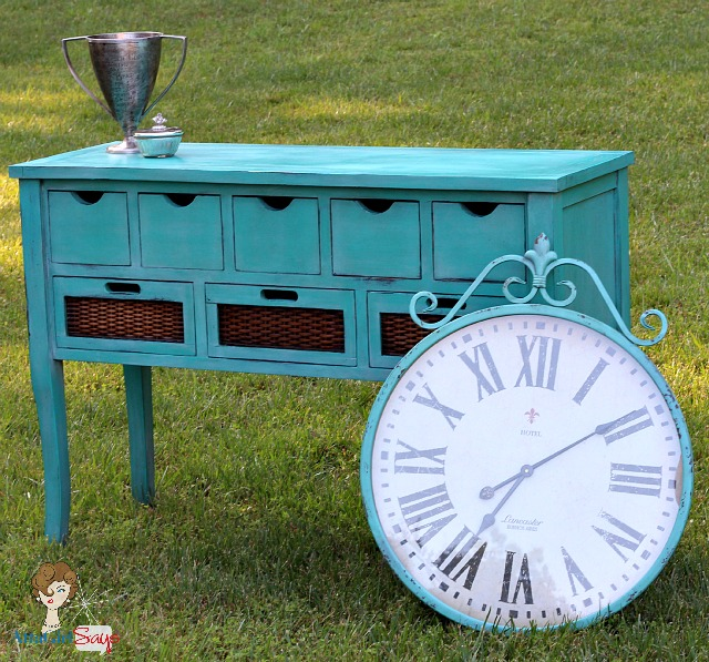 Custom-Handpainted-Caribbean-Blue-Buffett-