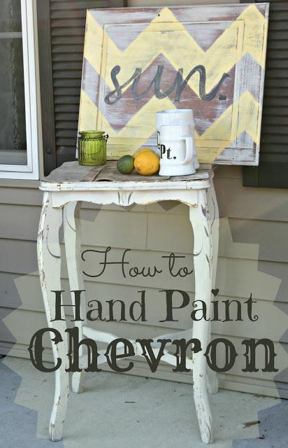 Chevron Painting Techniques