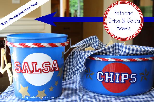 Patriotic Chips & Salsa Bowls