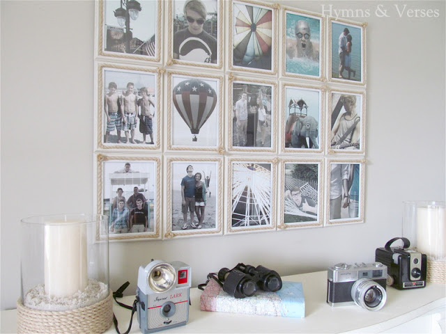 DIY Coastal Photo Display