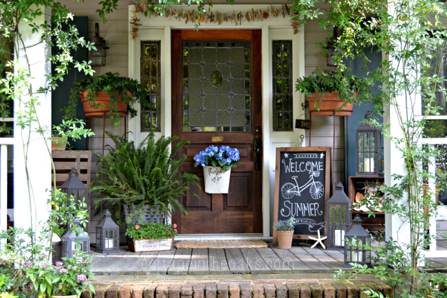 Project inspire d 20 yesterday on tuesday Cottage porch decorating ideas