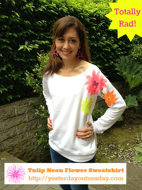 Totally Tulip Neon Flower Sweatshirt