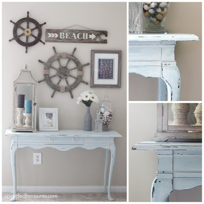 DIY Beachy Console Table