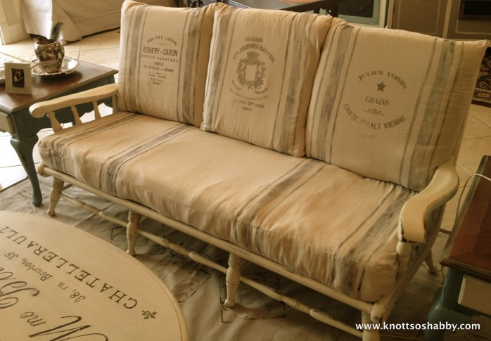 Make a Faux Grain Sack for Upholstery