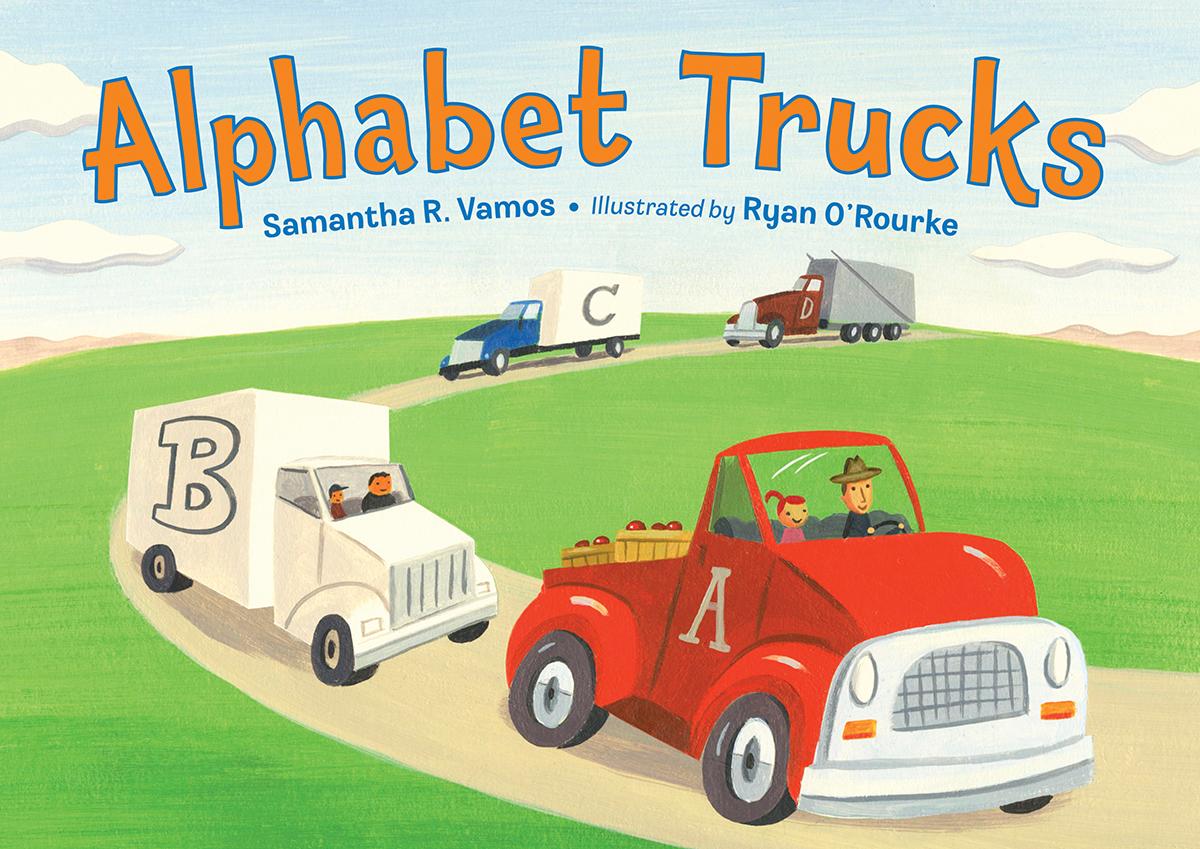 Children Alphabet Book Cover Design : Meet alphabet trucks illustrator ryan o rourke yesterday