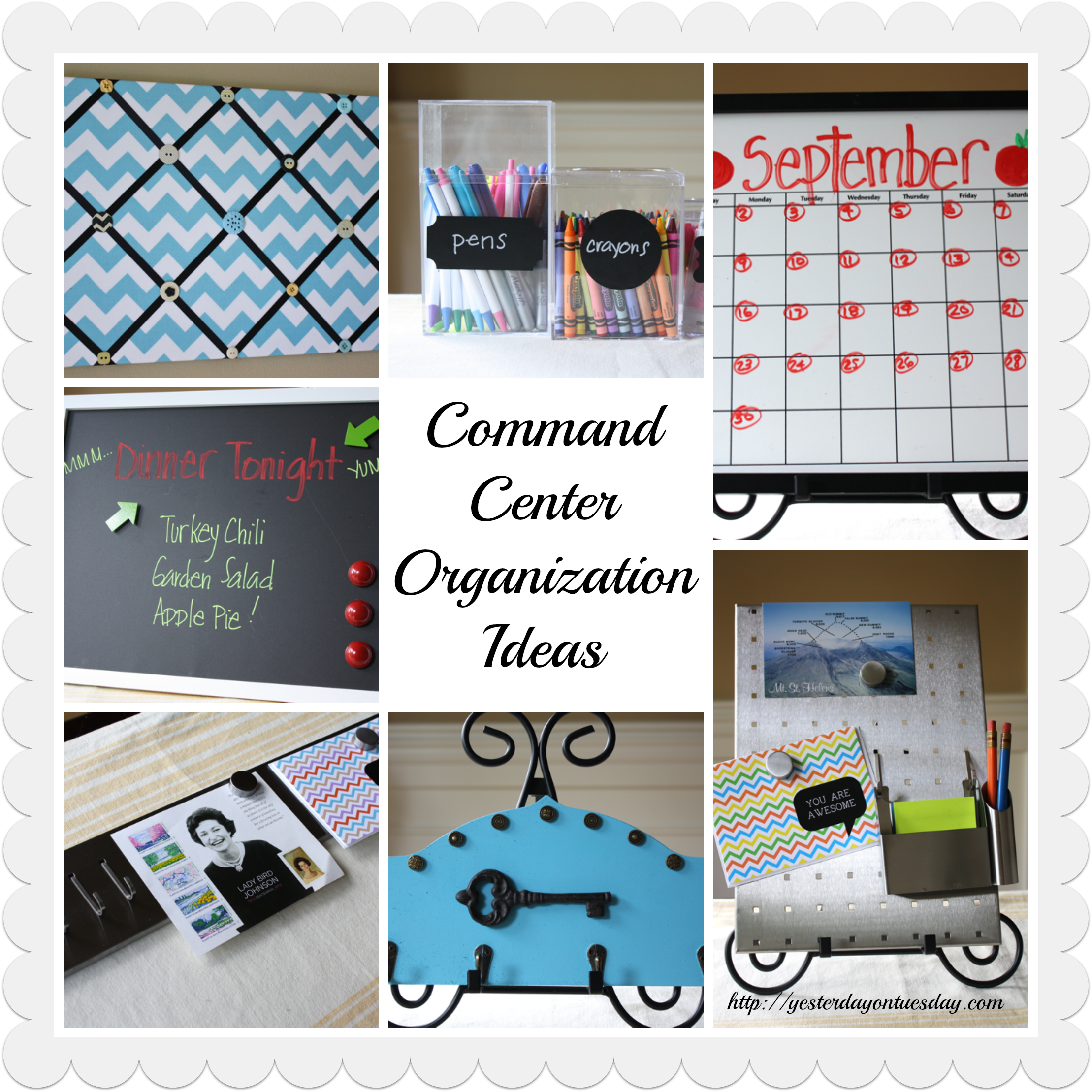 Command Center Organization Ideas | Yesterday On Tuesday