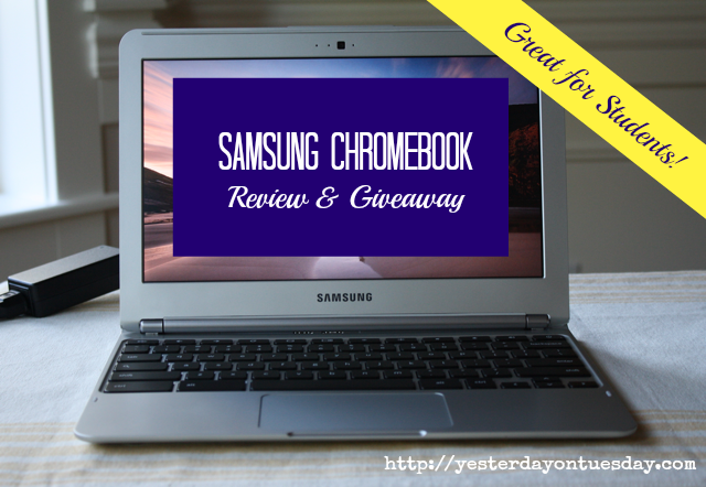 Samsung Chromebook Review and Giveaway