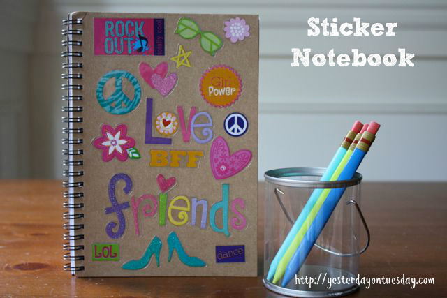 Personalized school supplies yesterday on tuesday for Back to school notebook decoration ideas