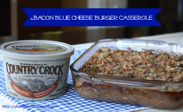 Bacon Blue Cheese Burger Casserole | Yesterday On Tuesday
