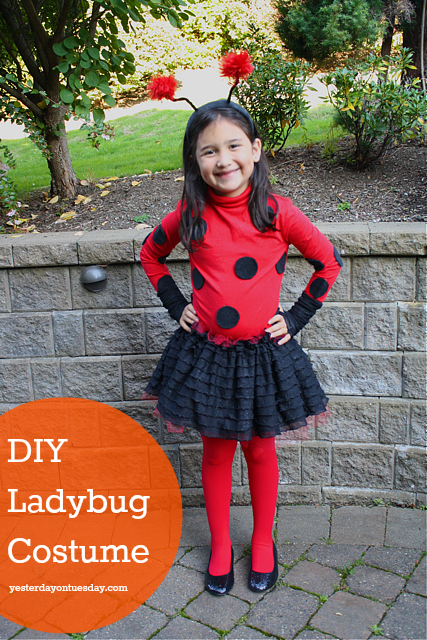 Diy ladybug costume yesterday on tuesday diy ladybug costume solutioingenieria Images