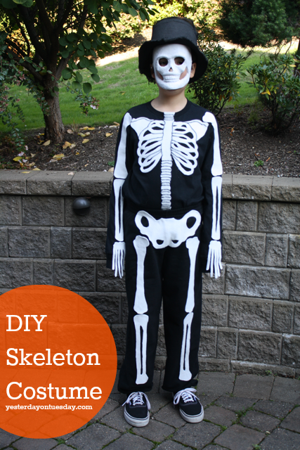 Skeleton Costume & DIY Skeleton Costume | Yesterday On Tuesday