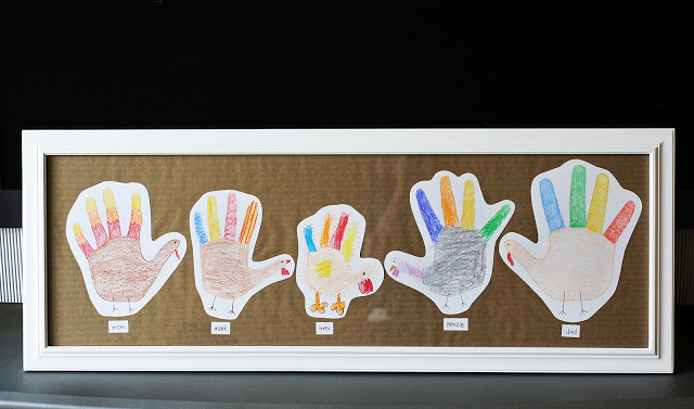 Handprint Turkey Family