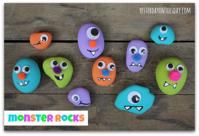 Monster Rocks featured in Kids Crafts 123 Easy Crafts For Kids Ages 2-3