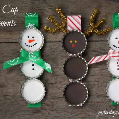Bottle Cap Ornaments and $100 Dollar Tree Gift Card Giveaway