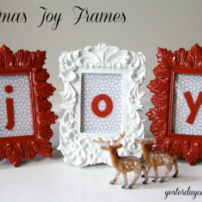 Craft Lightning: Christmas Joy Frames