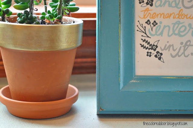 Gold Flower Pot by The Colored Door