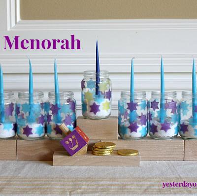 Kid's Menorah Featured in Kids Crafts 123