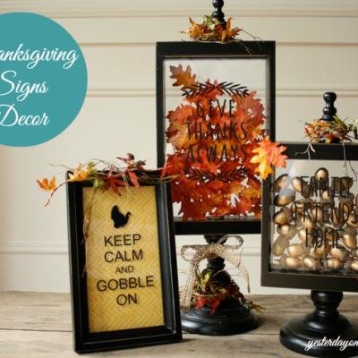 Thanksgiving Signs Decor