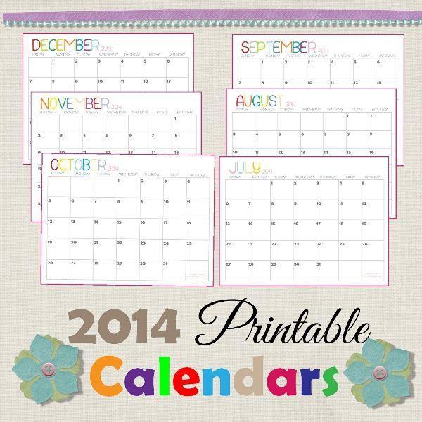 A Dozen Free Printable Calendars