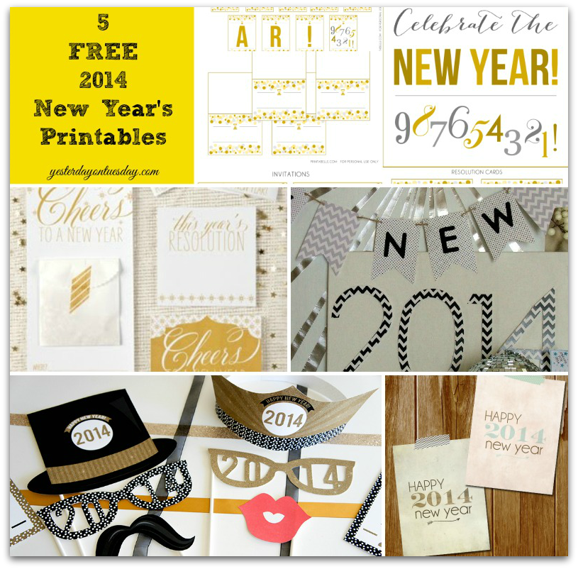 5 Free New Year's Eve Printables