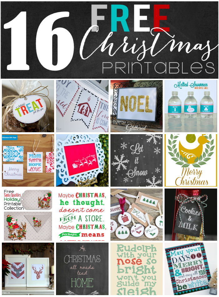 Free Vintage Christmas Party Printables | Yesterday On Tuesday