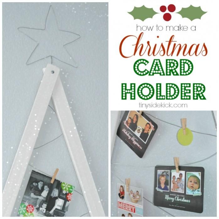 DIY Christmas Card Holder by Tiny Sidekick