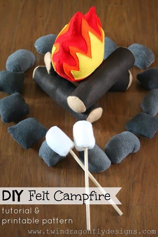 DIY Felt Campfire Tutorial